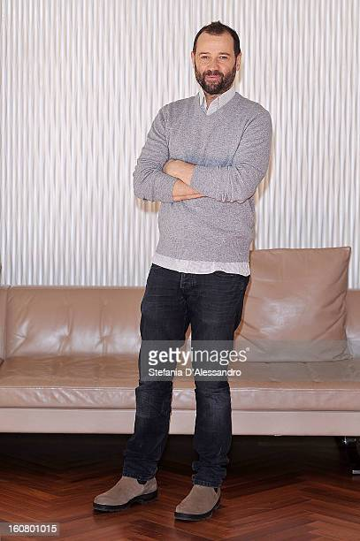 Fabio Volo attends 'Studio Illegale' Photocall at Terrazza Martini on February 6 2013 in Milan Italy