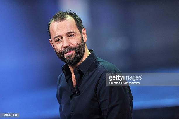 Fabio Volo attends 'Volo In Diretta' TV Show on October 30 2012 in Milan Italy