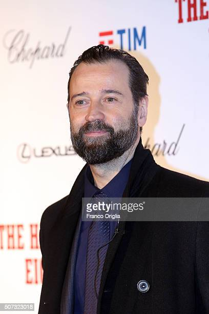 Fabio Volo walks the red carpet for 'The Hateful Eight' premiere at on January 28 2016 in Rome Italy