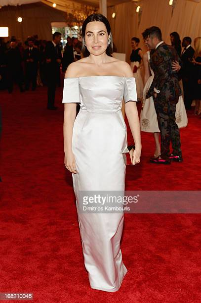 Fabiola Baracasa attends the Costume Institute Gala for the PUNK Chaos to Couture exhibition at the Metropolitan Museum of Art on May 6 2013 in New...