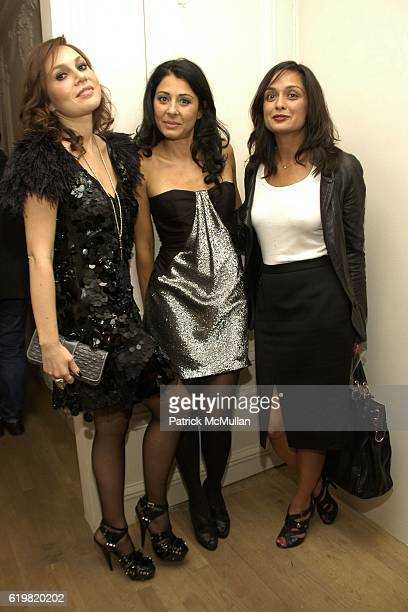 Fabiola Beracasa Aida Khoursheed and Roopal Patel attend Grand Opening of Jay Ahr at 801 Madison Ave on October 15 2008 in New York City