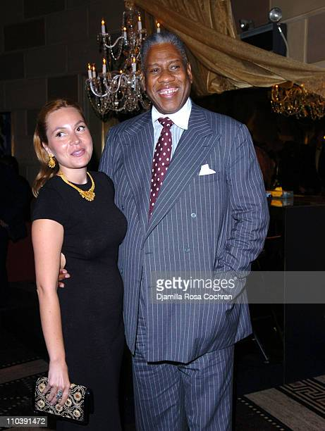 Fabiola Beracasa and Andre Leon Talley during Maggie Rizer Hosts Viva Glam Casino to Benefit DIFFA Sponsored by MAC at Gotham Mall in New York City...