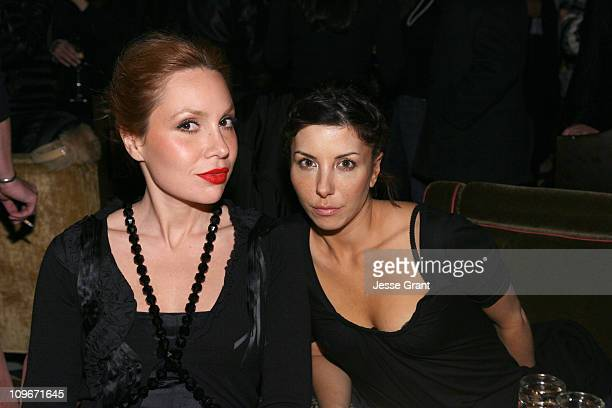 Fabiola Beracasa and guest during MercedesBenz Fashion Week Fall 2007 Marchesa After Party in New York City New York United States