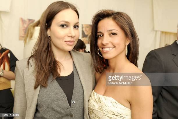 Fabiola Beracasa and Shoshanna Gruss attend Shoshanna for Judith Ripka Advertising Campaign at IMG Lounge on February 17 2009 in New York City
