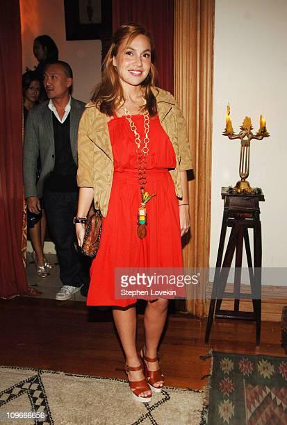 Fabiola Beracasa at the Marni dinner for Consuelo Castiglioni