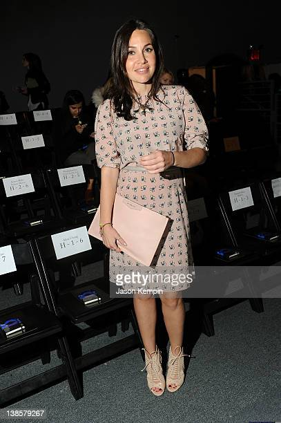 Fabiola Beracasa attends the Honor Fall 2012 fashion show during MercedesBenz Fashion Week at The Studio at Lincoln Center on February 9 2012 in New...