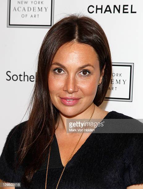 Fabiola Beracasa attends The New York Academy of Art's 20th Annual Take Home a Nude benefit at Sotheby's on October 17 2011 in New York City