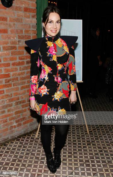 Fabiola Beracasa attends the Playground screening gala at The Bowery Hotel on May 1 2009 in New York City