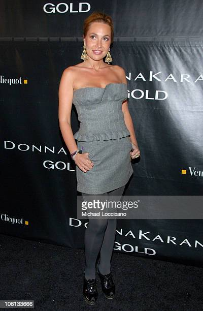 Fabiola Beracasa during Donna Karan Gold Fragrance Collection Launch at Donna Karan Flagship on Madison in New York City New York United States