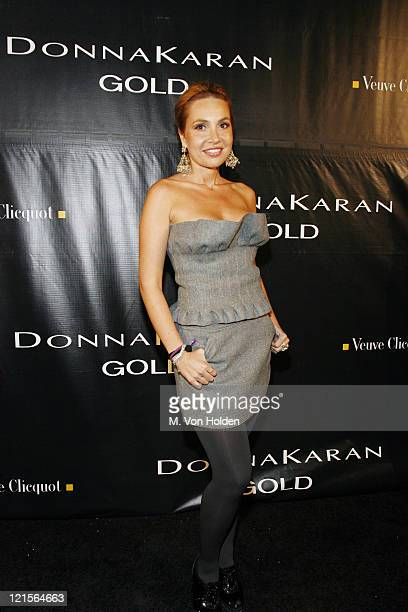 Fabiola Beracasa during Donna Karan Gold Fragrance Collection Launch Party at Donna Karan Flagship in New York City New York United States