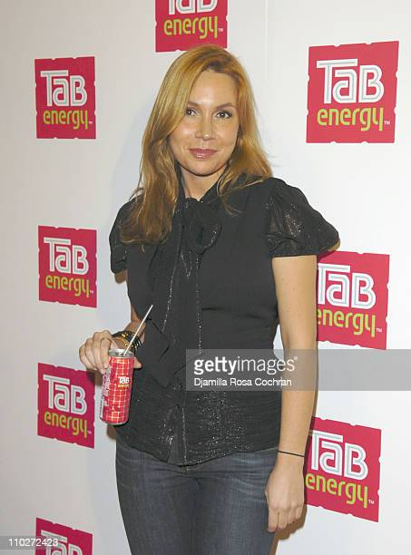 Fabiola Beracasa during Launch of TAB ENERGY Arrivals at DriveIn Studios in New York New York United States