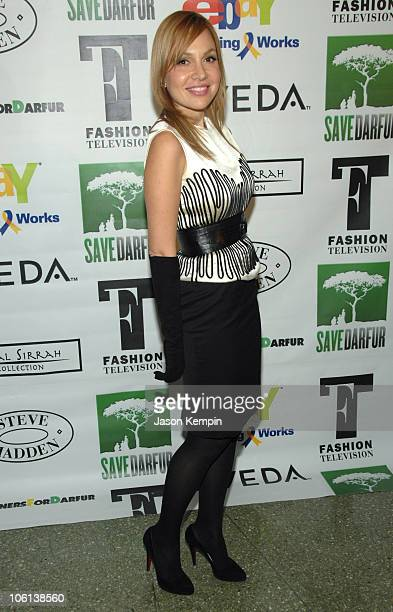 Fabiola Beracasa during Mercedes Benz Fashion Week Fall 2007 Designers For Darfur Arrivals at Roseland Ballroom in New York City New York United...
