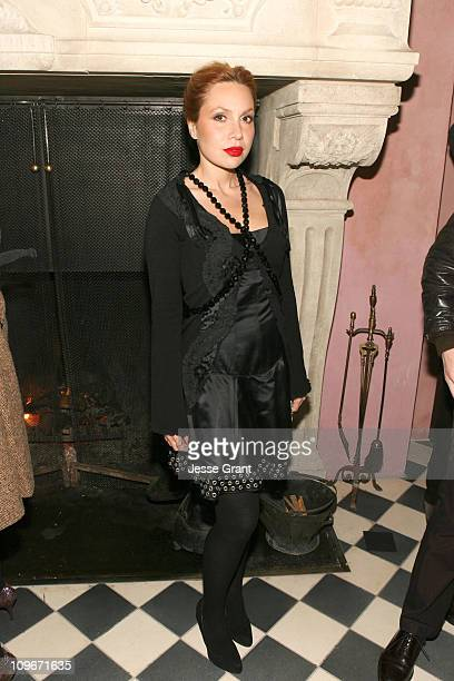 Fabiola Beracasa during MercedesBenz Fashion Week Fall 2007 Marchesa After Party in New York City New York United States