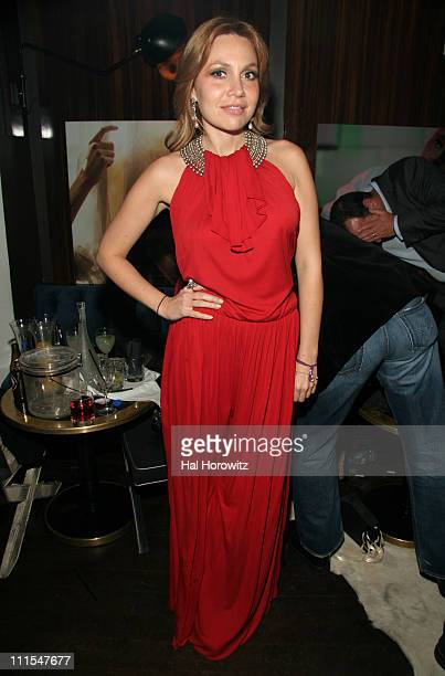 Fabiola Beracasa during Thompson Hotels' New Lifestyle Magazine Room100 Party April 18 2007 at Thompson Hotel in New York City New York United States