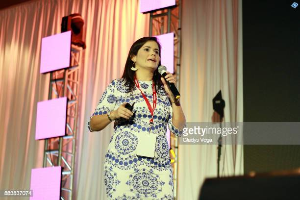 Fabiola C WeberGuzman Pediatric vascular and interventional radiologist speaks to the audience as part of Animus Women's Innovation Journey 2017 at...