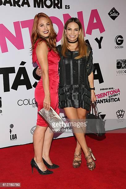 Fabiola Campomanes and her daughter Sofia Campomanes attends the Treintona Soltera Y Fantastica Mexico City premiere at Cinemex Antara Polanco on...