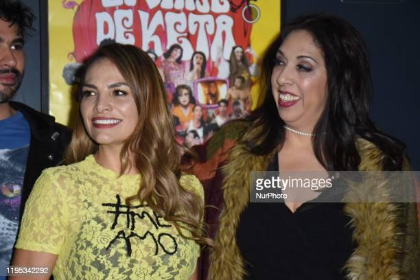 Fabiola Campomanes and Regina Orozco pose for photos during the photocall of 'El Viaje de Keta' at Le Cinema IFAL on January 22 2020 in Mexico City...