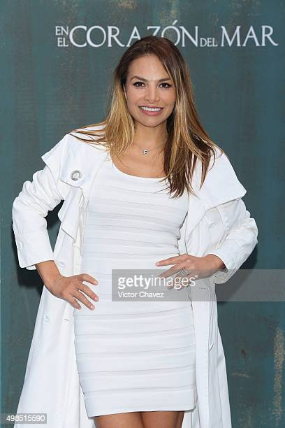 Fabiola Campomanes attends the In the Heart of the Sea Mexico City premiere at Cinemex Antara Polanco on November 23 2015 in Mexico City Mexico