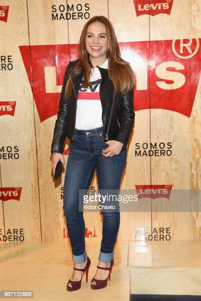 Fabiola Campomanes attends the Levi's Flagship Madero store opening at historical center streets on March 22 2018 in Mexico City Mexico