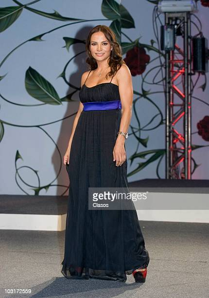 Fabiola Campomanes poses during the presentation of the new soap opera Teresa at Camino Real Hotel on July 29 2010 in Mexico City Mexico