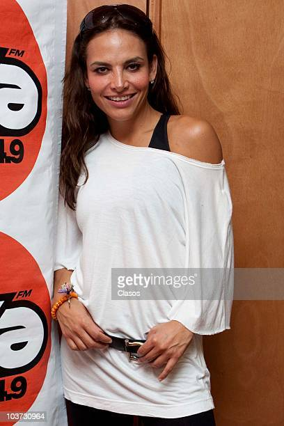 Fabiola Campomanes poses for a photograph during a press conference on the new radio show Despierta Mi Bien Despierta at MVS Radio on August 30 2010...