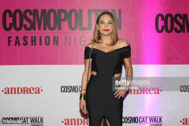 Fabiola Campomanes poses for photos during the Cosmopolitan Fashion Night red carpet on March 12 2019 in Mexico City Mexico