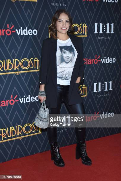 Fabiola Campomanes poses for photos during the premiere of 'Rubirosa' new Claro Video Series at Cinepolis Plaza Carso on November 27 2018 in Mexico...