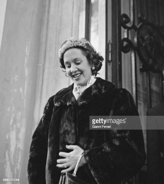 Fabiola de Mora y Aragon in Madrid shortly after her marriage to the King Baudouin of Belgium Madrid Spain