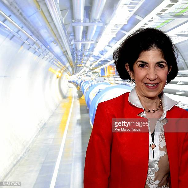 Fabiola Gianotti Director General of CERN attends the 'Extreme Alla ricerca delle particelle' exhibition opening at National Science and Technology...
