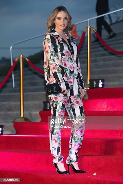 Fabiola Guajardo attends the Dolce Gabbana Alta Moda and Alta Sartoria collections fashion show at Soumaya Museum on April 18 2018 in Mexico City...