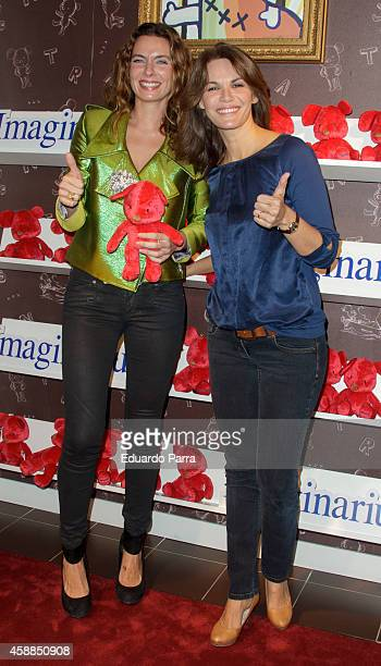 Fabiola Martinez and Alejandra Osborne attend KicoNico Red campaing presentation photocall at Imaginarium store on November 12 2014 in Madrid Spain