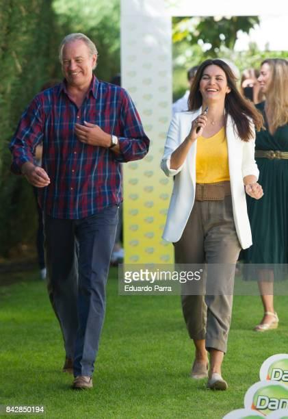 Fabiola Martinez and Bertin Osborne attend the 'Danacol Charity campaign presentation at Pabellon Ondarreta on September 5 2017 in Madrid Spain