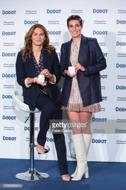 Fabiola Martinez and Eugenia Ortiz Domecq present Dodot charity campaign at ABC Museum on November 7 2018 in Madrid Spain