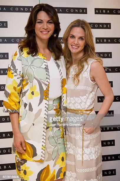 Fabiola Martinez and Genoveva Casanova attend the presentation of the 'Alba Conde' store on April 21 2016 in Madrid Spain