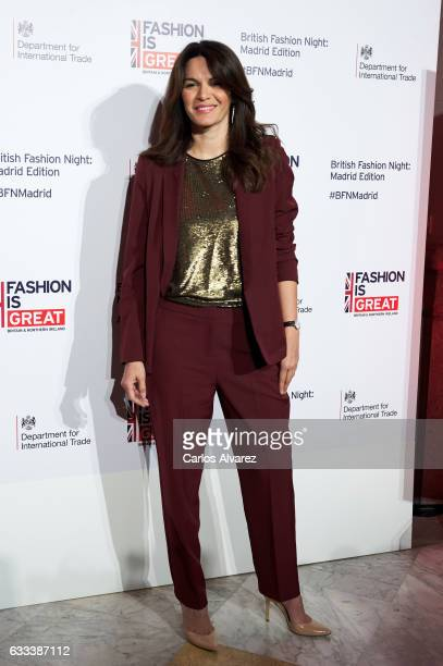 Fabiola Martinez attends 'British Fashion Night' party at the Carlos Maria de Castro Palace on February 1 2017 in Madrid Spain