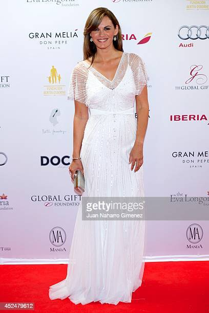 Fabiola Martinez attends Global Gift Gala 2014 at Melia Don Pepe Hotel on July 20 2014 in Marbella Spain
