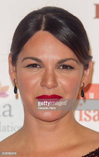 Fabiola Martinez attends the Global Gift Gala photocall at Madrid Townhall on April 2 2016 in Madrid Spain