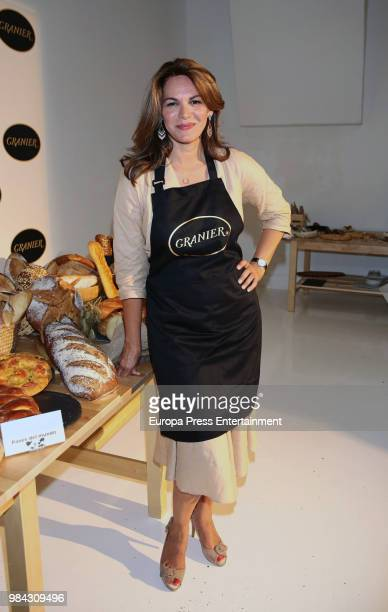 Fabiola Martinez presents the new bread menu by Granier on June 26 2018 in Madrid Spain