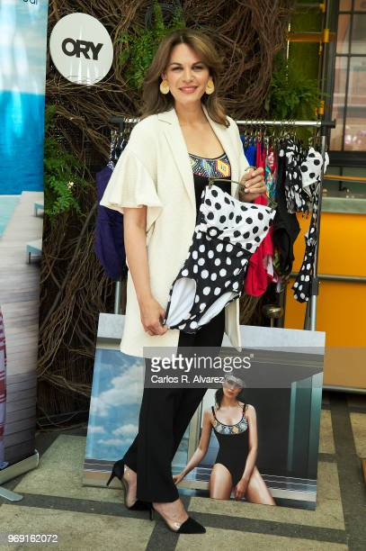 Fabiola Martinez presents the new Ory swimsuits collection at the Only You Hotel of June 7 2018 in Madrid Spain