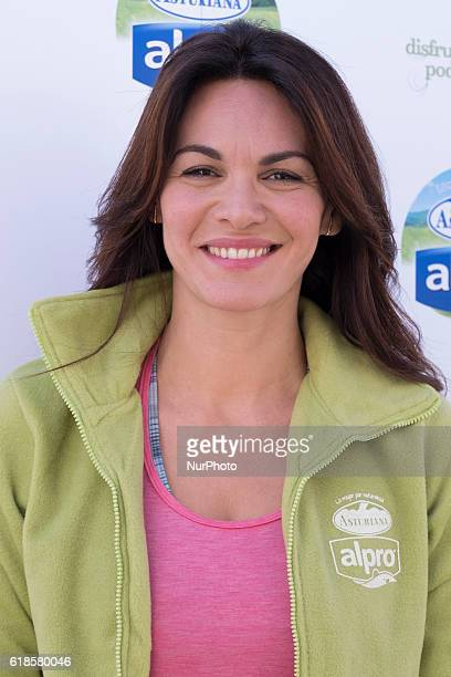 Fabiola Martínez attends a Master Class organized by Alpro yoga Central Lechera Asturiana in Madrid on October 27 2016 in Madrid Spain