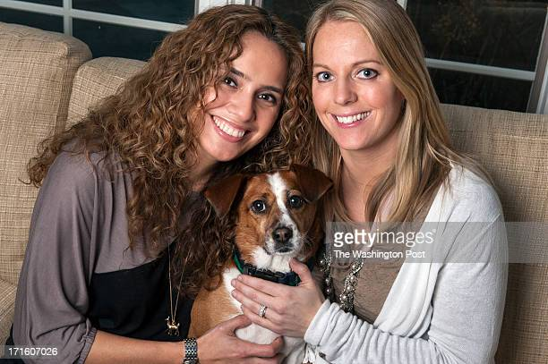 Fabiola Morales and Kelly Costello with their dog Blue pose Wednesday December 20 2012 in Potomac MD The two were married in June 2011 but because...