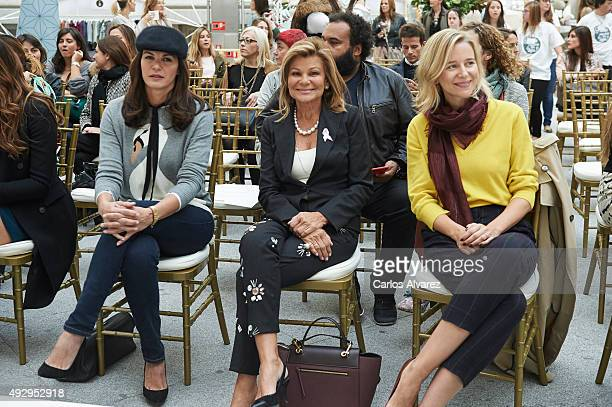Fabiola Osborne Cari Lapique and Maria Leon attend The Petite Fashion Week 2nd Edition at the Palacio de Cristal on October 16 2015 in Madrid Spain