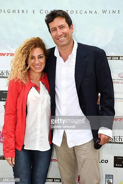 Fabiola Palese and Paolo Calissano attends Matchless E Bike Presentation on June 5 2016 at Casone Ugolino in Castagneto Carducci near Livorno Italy