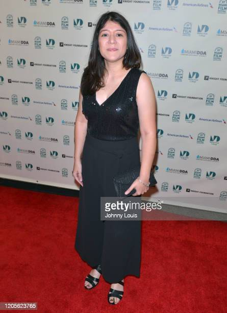 Fabiola Rodriguez from short film 'Woman Under the Tree' are seen during 37th Annual Miami Film Festival presented by Miami Dade College opening...