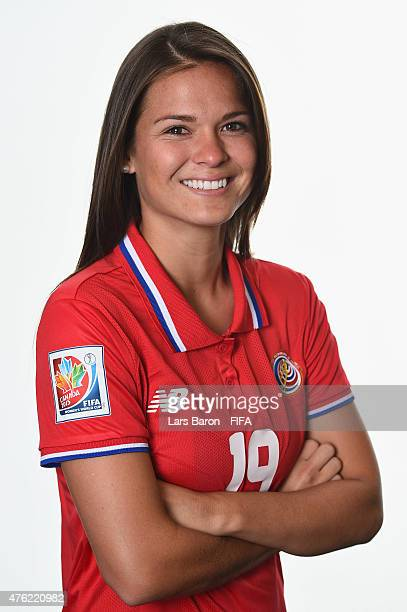 Fabiola Sanchez of Costa Rica poses during the FIFA Women's World Cup 2015 portrait session at Sheraton Le Centre on June 6 2015 in Montreal Canada