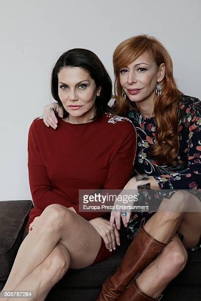 Fabiola Toledo and Elisa Matilla attend the presentation of 'Sofocos Plus' at La Latina theatre on January 19 2016 in Madrid Spain
