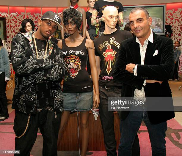 Fabolous and Christian Audigier, designer during Ed Hardy In-Store at Macy's - April 26, 2007 at Macy's in New York City, New York, United States.