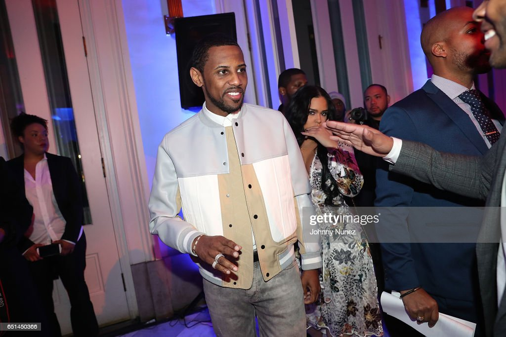 Fabolous and Emily Bustamante attends Icon Talks Salutes Fabolous at Brooklyn Borough Hall on March 9, 2017 in New York City.