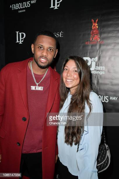 Fabolous and Heather Grabin attend A Fabolous Way Foundation Christmas toy drive at The Red Rabbit Club on December 20 2018 in New York City