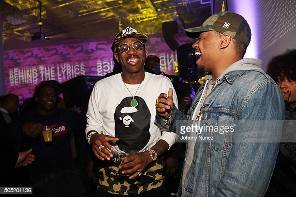 1c8c1d8b5f4 Fabolous and Mack Wilds attend the Genius X Spotify Launch Party at Genius  HQ on January